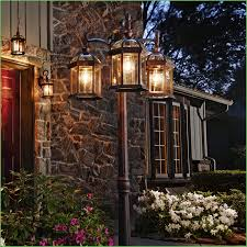 lighting outdoor lighting ing guide post light illuminating an entryway outside lighting posts home design