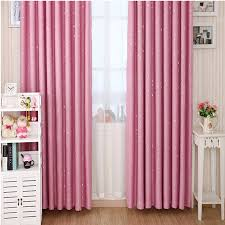 Stars patterns girls pink bedroom curtains for Blackout
