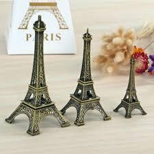 Bronze Tone Paris Eiffel <b>Tower</b> Figurine Statue Vintage Alloy Model ...