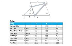 Bicycle Giant Bicycle Frame Size Chart
