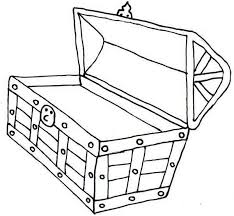 Open Treasure Chest Coloring Page Kiddos Treasure Chest