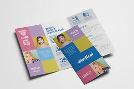 tri fold brochures modern medical tri fold brochure template in psd ai vector