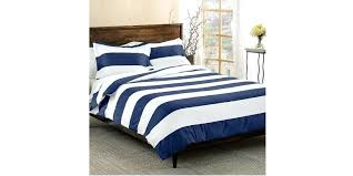 navy blue white rugby stripes duvet cover twin set cabana and striped bedding single