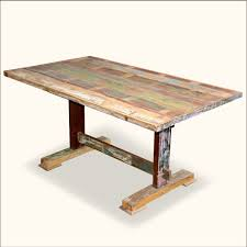Barnwood Kitchen Table Cool Reclaimed Wood Trestle Dining Table Home Interiors