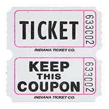 images of raffle tickets amazon com raffle tickets white 1000 per roll 50 50 fun fair toys
