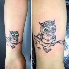 Gufetto Con Iniziali Dei Nipoti Black Lotus Tattoo Art