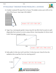 pythagorean theorem worksheet doc delibertad pythagorean word problems worksheet rringband