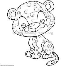Cute Baby Jaguar Animal Coloring Pages Getcoloringpagesorg