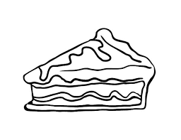 Small Picture Slice Apple Pie Cake Coloring Pages Slice Apple Pie Cake Coloring