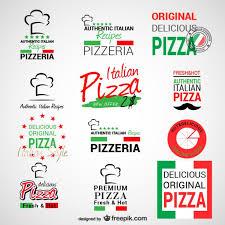 Italian Logos Pizzeria Logos Set Vector Free Download