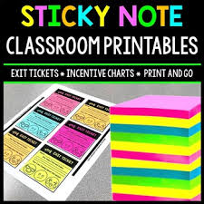 Class Incentive Chart Printable Sticky Note Printables Exit Tickets Incentive Charts Teacher Reminders