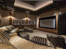 home theater floor lighting. Contemporary Theater A Custom Home Theater In Your House With LED Lighting And Wall Sconces To Floor U