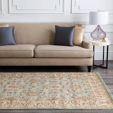 Free Form Seafoam Classic Border Rug - Free Shipping Today - Overstock.com  - 13303927