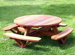 picnic table plans detached benches round picnic table plans round picnic table plans detached benches