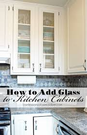 Diy glass cabinet doors Glass Inserts How To Add Glass To Cabinet Doors Confessions Of Serial Doityourselfer Pinterest How To Add Glass To Cabinet Doors Bloggers Best Diy Ideas
