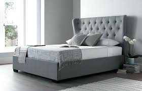 Adorable Grey Tufted Bed Frame Queen King Velvet Fabric Double ...