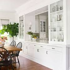 Dining room wall units Buffet Passthrough Connecting Kitchen And Dining Rooms With Great Storage Surrounding It Pinterest 21 Dining Room Builtin Cabinets And Storage Design Decor
