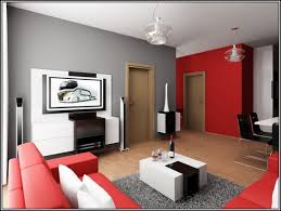 Red And Grey Decorating Download Clever Design Apartment Living Room Decorating Ideas On A
