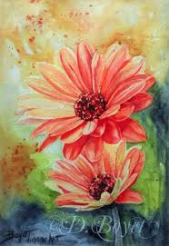 wildside art for really wild art gerber daisy watercolor painting by deborah