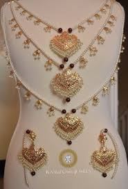 Gold Set Design 2019 In Pakistan Rangposh Jewels Pakistani Indian Asian Bridal Jewellery