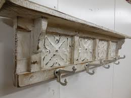 wooden wall mounted coat rack with shelf designs
