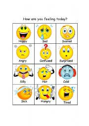 How Are You Feeling Today Printable Chart How Are You Today 1 Of 3 Esl Worksheet By Defe75