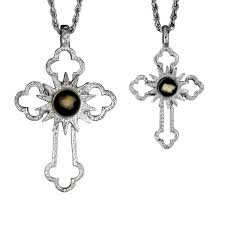 classic cross large petite sterling silver