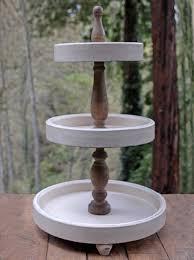fresh wooden tiered stand 3 tier wood dessert australium cake three plant fruit 2 display