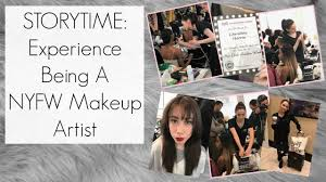 story time w vlog fooe my experience as a new york fashion week makeup artist beautyee