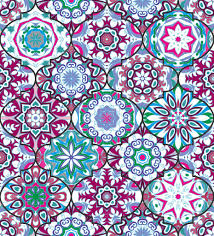 Bohemian Pattern Delectable Vector Ethnic Colorful Bohemian Pattern In Bright Colors Stock
