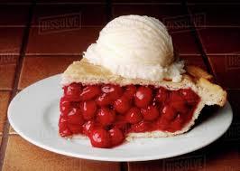 cherry pie slice with ice cream. Fine Pie Slice Of Cherry Pie With A Scoop Vanilla Ice Cream Intended With Dissolve