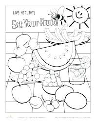 Fruit Coloring Sheets Of The Spirit Pages Pdf Fruits Kids Free Pictures