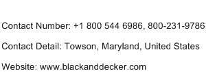Black And Decker 1800 Customer Service Phone Number Toll Free