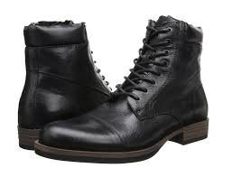 calvin klein jeans radman black leather men s lace up boots