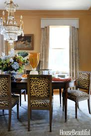 gray dining room features owl