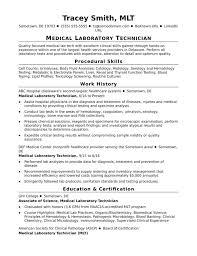 Medical Lab Technician Resume Format Resume Template Ideas