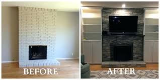 diy fireplace makeovers fireplace makeovers on a budget fireplace makeover air stone over brick fireplace painted