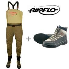 Airflo Waders Size Chart Airflo Airweld Stocking Foot Waders With Airlite Wading Boots Save 45