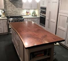 maple wood countertop walnut live edge bookmatch island countertop