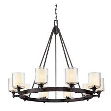 troy lighting arcadia 10 light french iron chandelier with clear glass shade