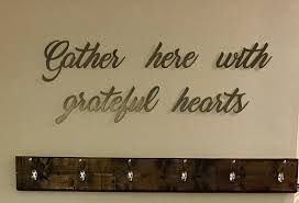 gather here with grateful hearts wall art scripture wall art on home is where the heart is metal wall art with gather here with grateful hearts wall art scripture wall art metal