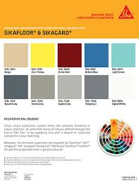 Sikagard 62 Color Chart Credible Sika Color Chips 2019