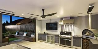 outdoor ceiling fan and cooktop installation