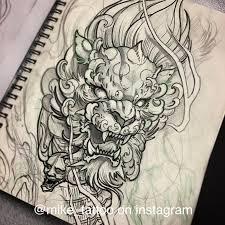 Foo Lion Sketch Toronto Tattoo Foo Dog Japanese Tattoo Design Art