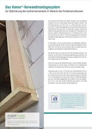 Hanno Vorwandmontagesystem Zur Montage Von Fenstern In Der