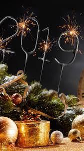 Happy New Year 2019, Christmas balls ...