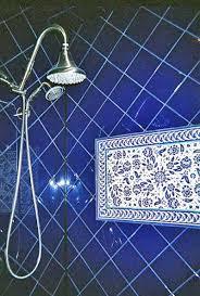 Blue And White Decorative Tiles Bathroom shower tile design decorative ideas 50