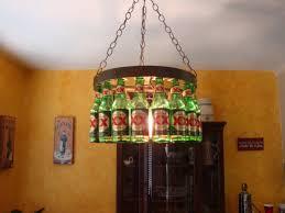 one other image of diy bottle chandelier