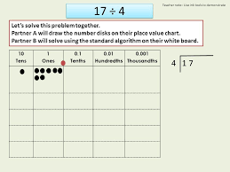 Draw Place Value Disks On The Place Value Chart Lesson 15 I Can Divide Decimals Using Place Value