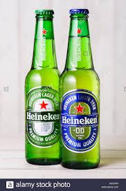 Alcohol In Heineken Vs Heineken Light London Uk April 27 2018 Bottles Of Heineken Lager And